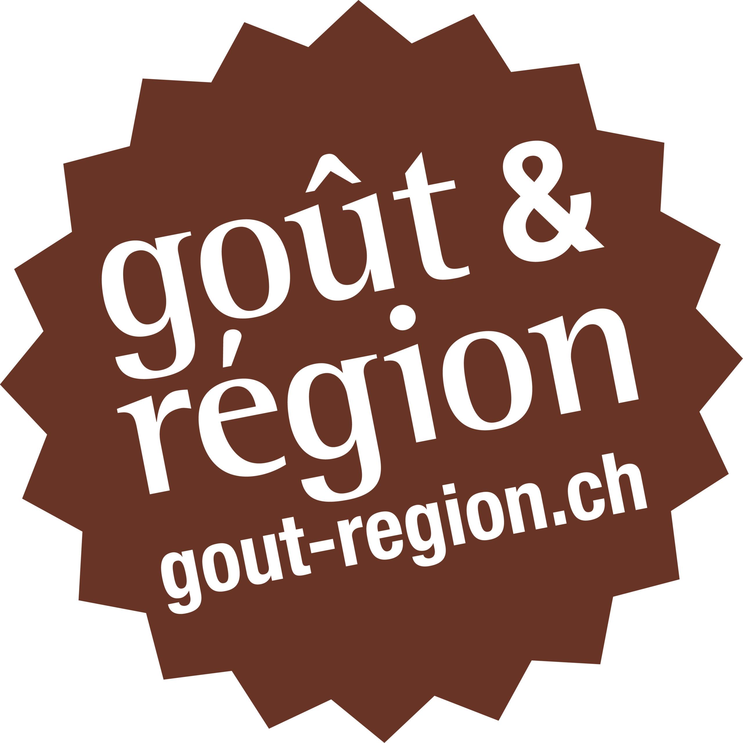 Logo brun de Goût & Région