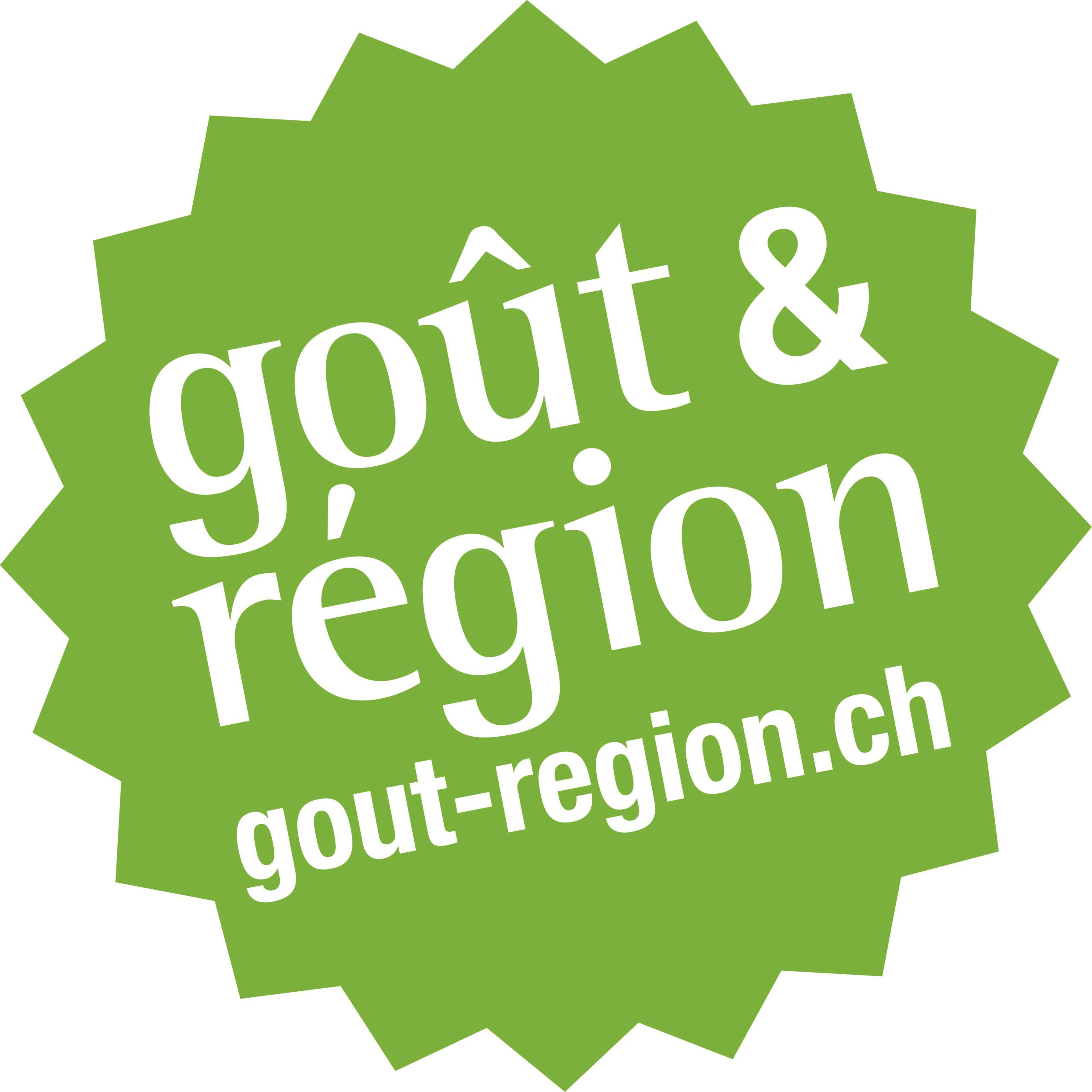 Logo vert de Goût & Région