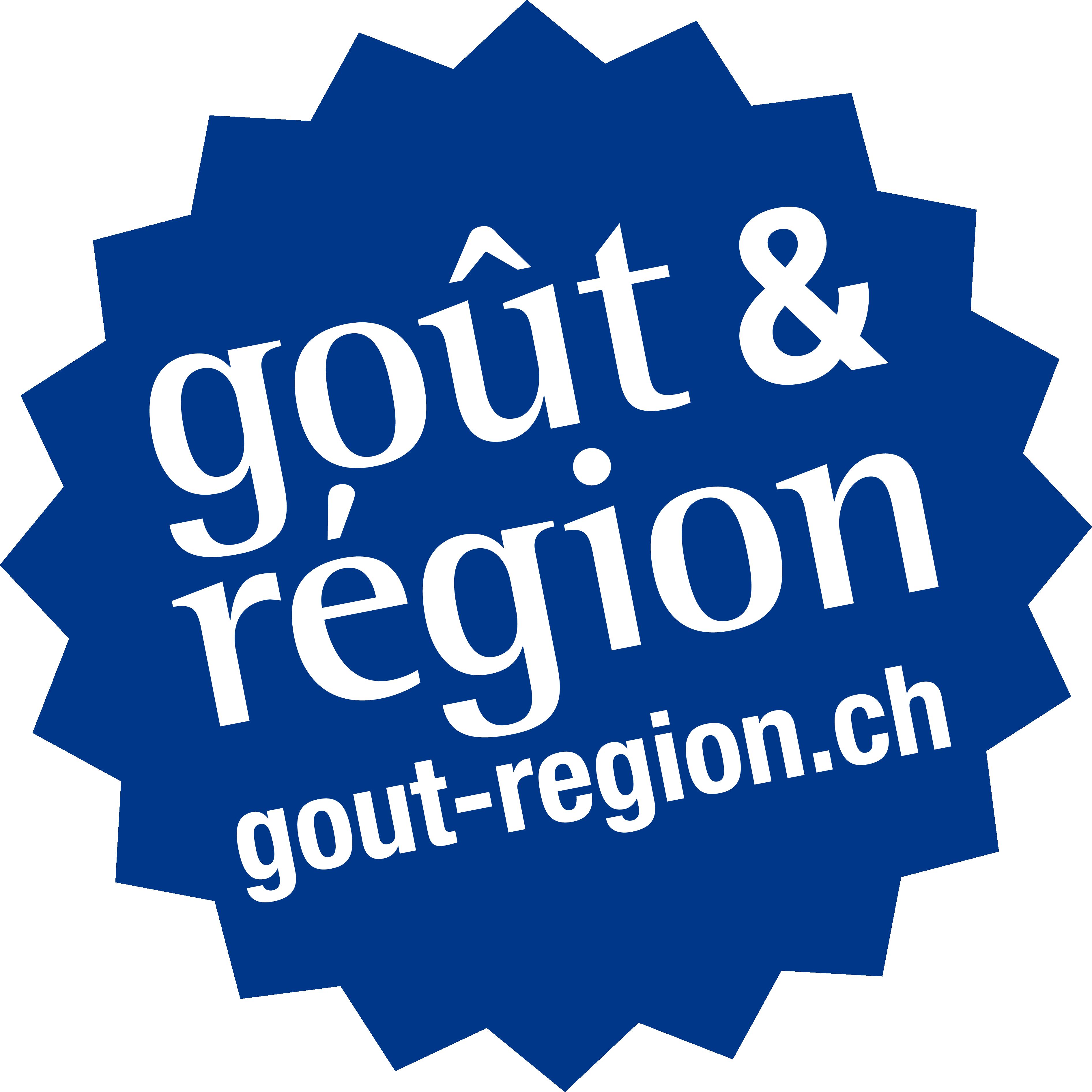 Logo bleu de Goût & Région