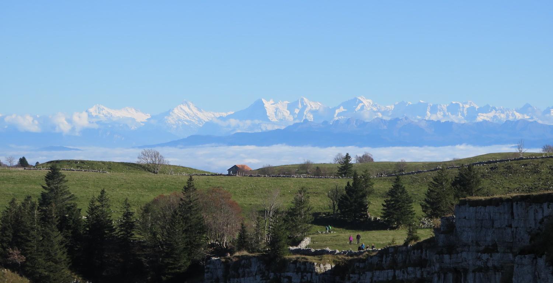 Alpenblick von Soliat, Creux du Van, Val-de-Travers